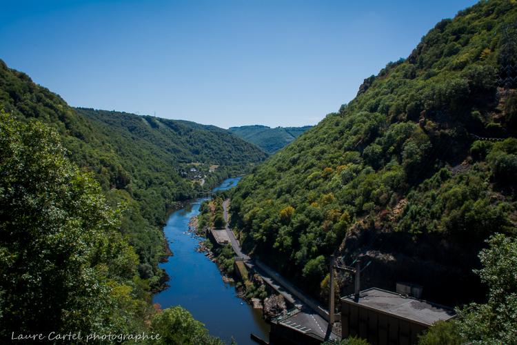 La Dordogne depuis le barrage de l'aigle