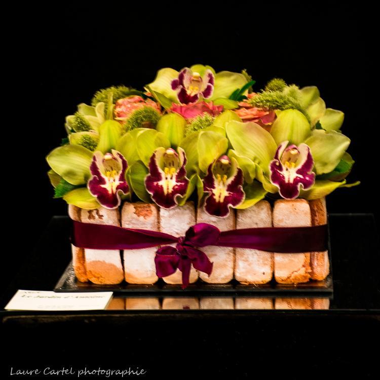Gâteau d'orchidées