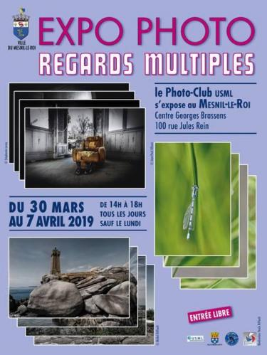 Affiche expo photo regards multiples 2019